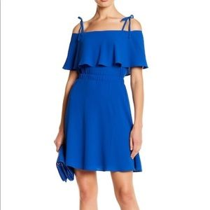 Vince Camuto Ruffle Fit & Flare Dress size 2